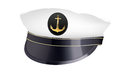 Captain hat with cockade vector illustration Royalty Free Stock Photo