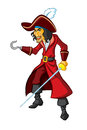 Captain hook illustration of from children fairy tale Stock Photo