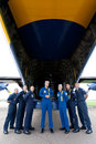 Captain A.J. Harrell Fat Albert Blue Angels Royalty Free Stock Photo