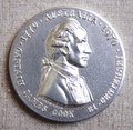 Captain James Cook silver medal Royalty Free Stock Photo