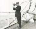 Captain navigating ship Royalty Free Stock Photo