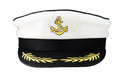 Captain s cap isolated on white background Royalty Free Stock Photo