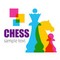 Caption - CHESS and colored chessmen.