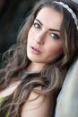 Captivating eyes a portrait of a young woman Royalty Free Stock Images