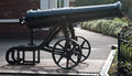 Captured russian cannon from the crimean war a renovated that was at end of Royalty Free Stock Photo