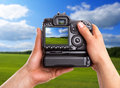 Capturing rural landscape Stock Photography