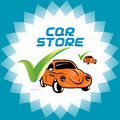 Car accept icon illustration sign symbol logo for web and print desig service companies stores Stock Image