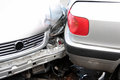 Car, accident collision Stock Images