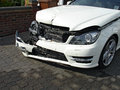 Car accident a smashed up after an leaves a wreck Royalty Free Stock Photo