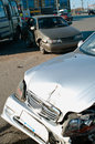 Car accident on street the of ufa city Stock Photography