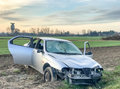 Car accident. Wreckage at road side Royalty Free Stock Photo