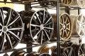 Car alloy wheels Royalty Free Stock Photo
