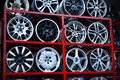 Car aluminum wheel rim Royalty Free Stock Photo