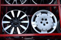 Car aluminum wheel rim Royalty Free Stock Photo