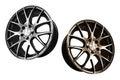 Car aluminum wheel rims alloy isolated on white background Royalty Free Stock Photography