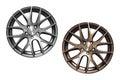 Car aluminum wheel rims alloy isolated on white background Stock Image