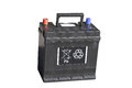 Car battery black lead acid on white background Stock Photo