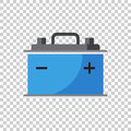 Car battery flat vector icon on isolated background. Auto accumu