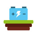 Car battery isolated icon