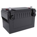 Car battery isolated render white background Stock Photography