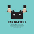 Car battery vector illustration Royalty Free Stock Photography