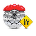 Car brake disc service icon Royalty Free Stock Images