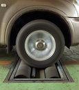 Car brake testing system of a Royalty Free Stock Photography