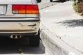 Car Bumper Swiped Royalty Free Stock Photo