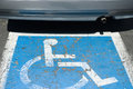 Car and car park sign for disabled driver Stock Photography