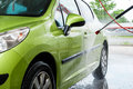 Car in a car wash Royalty Free Stock Photo