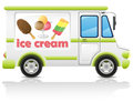 Car carrying ice cream vector illustration Stock Photography