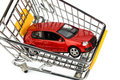 Car in cart Royalty Free Stock Photos