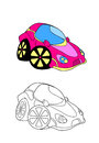 Car cartoon 2 Stock Images