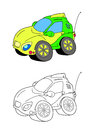 Car cartoon 4 Royalty Free Stock Photography