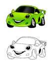 Car cartoon coloring page 4 Royalty Free Stock Photos