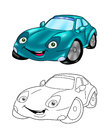 Car cartoon coloring page 5 Stock Images