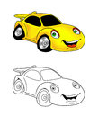 Car cartoon coloring page 9 Royalty Free Stock Photo