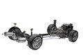 Car chassis with engine. Royalty Free Stock Photography