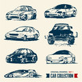 Car collection. Drawing set 1. Royalty Free Stock Images