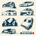 Car collection. Drawing set 5. Royalty Free Stock Image