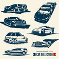 Car collection. Drawing set 7. Stock Images