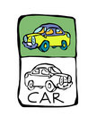 Car coloring book Stock Images