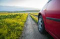 Car on country road Royalty Free Stock Photo