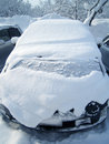 Car covered snow winter blizzard Royalty Free Stock Images