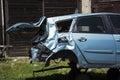 Car crash damaged after the Stock Photos