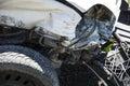 Car crash damaged after the Stock Image