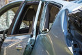 Car crash damaged after the Royalty Free Stock Images