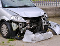 Car crash destroyed in a Royalty Free Stock Photos