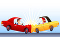 Car crash illustration Royalty Free Stock Photo