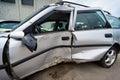 Car crash, insurance concept